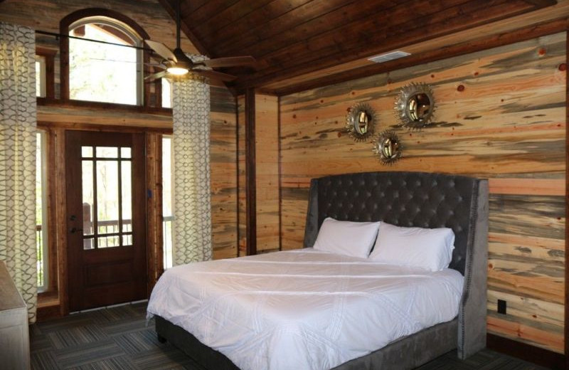 Rental bedroom at Broken Bow Cabin Lodging.