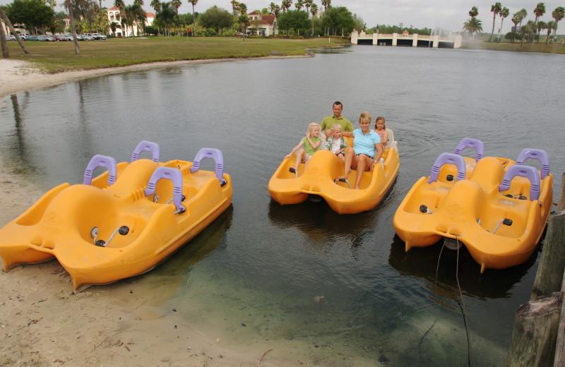 Paddle boats at Star Island Resort.