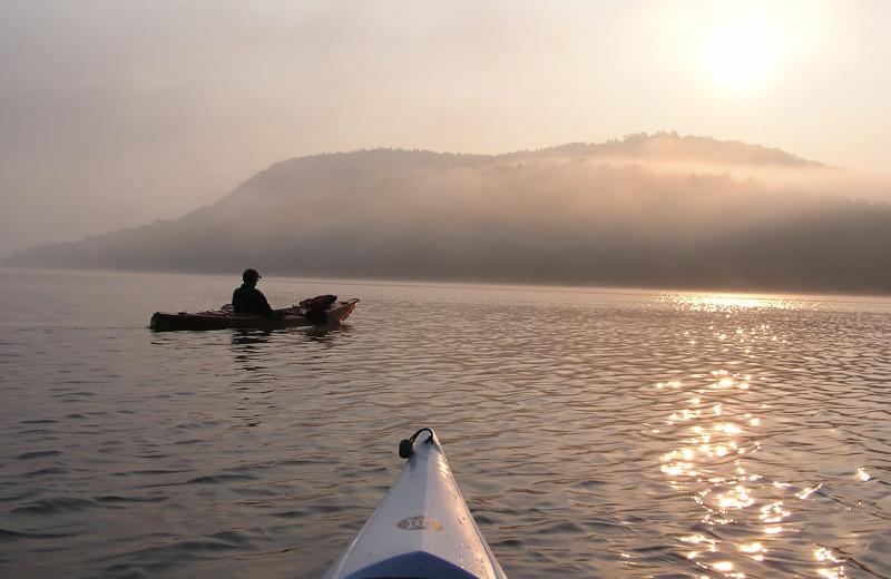 Kayaking at Timberlock.