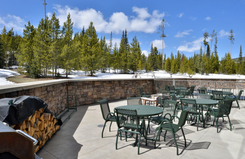 Patio at The Lodge at Big Sky.