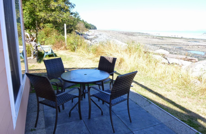Balcony view at Copes' Islander Bed & Breakfast.