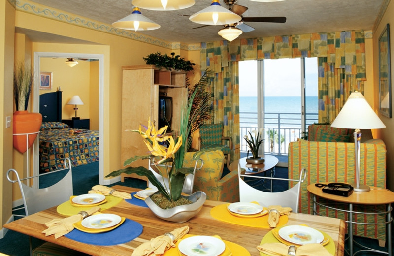 Guest suite dining area at Wyndham Ocean Walk Resort.