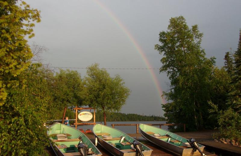 Fishing boats at Rainbow Point Lodge.