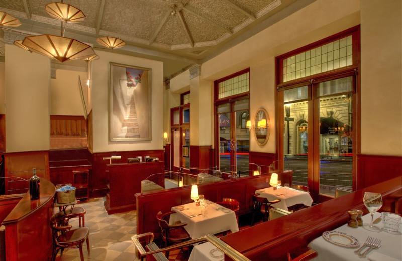 Dining at Sir Francis Drake Hotel.