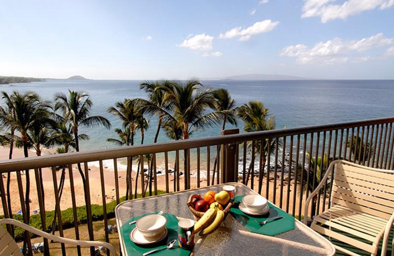 Balcony view from Mana Kai Maui.