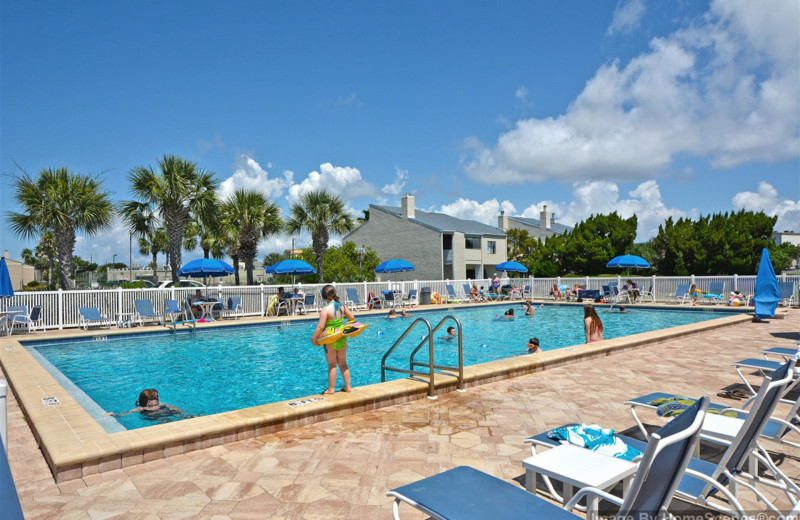 Outdoor pool at Shoreline Towers.