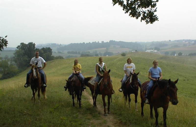 Horseback riding at Guggisberg Swiss Inn/Amish Country Riding Stables.