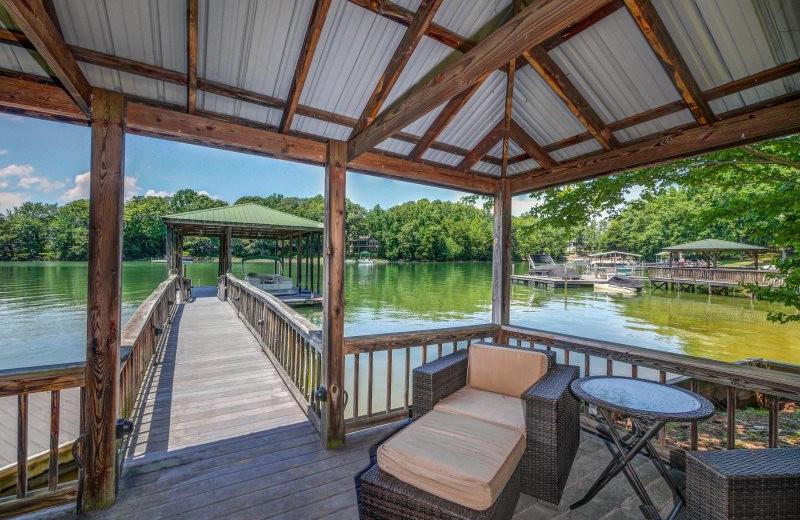 Rental dock at StayLakeNorman Luxury Vacation Rentals.