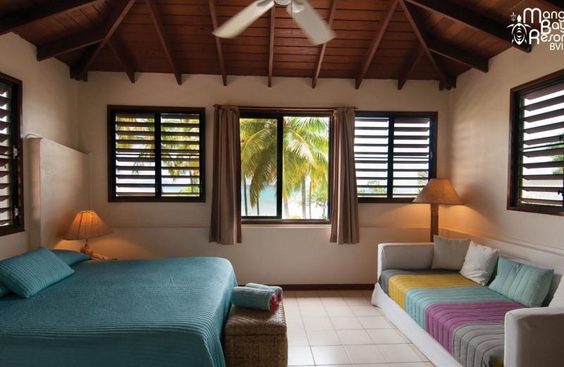 Guest room at Mango Bay Resort.