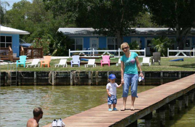 The dock at Lake June Vacation Resort.