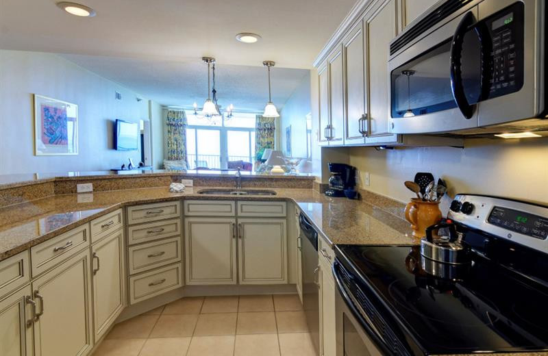 Rental kitchen at Newman-Dailey Resort Properties, Inc.