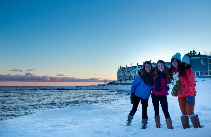 Group at Bluefin Bay on Lake Superior.
