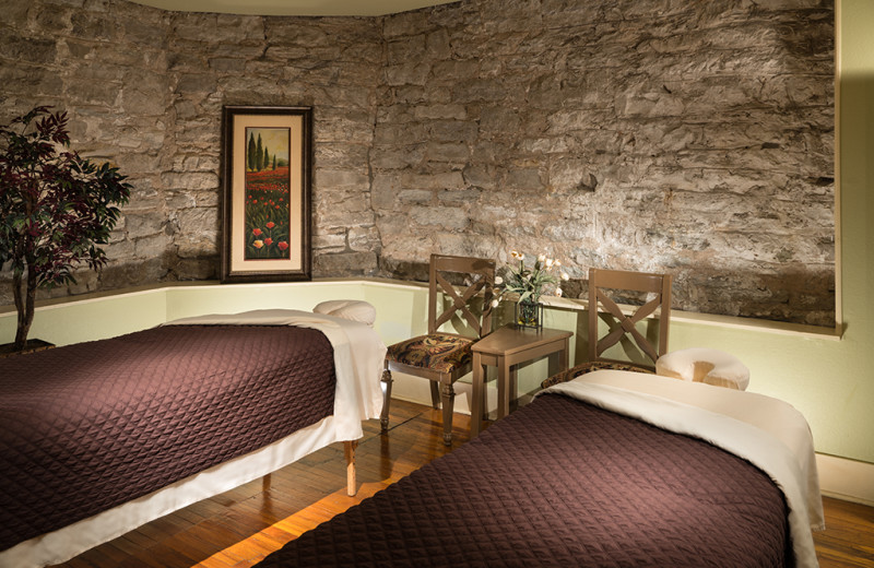 Massage tables at 1886 Crescent Hotel & Spa.