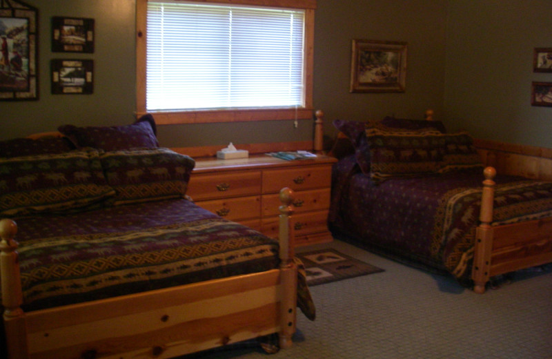 Guest room at Teton Valley Lodge.