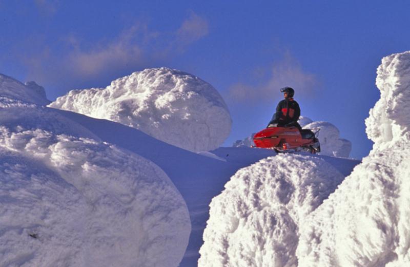 Snowmobiling at Bar N Ranch.