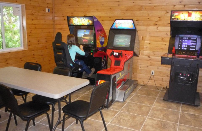 Game room at Bliss Point Resort.