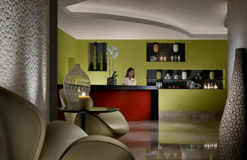 Spa reception desk at Casa Moderna Miami.
