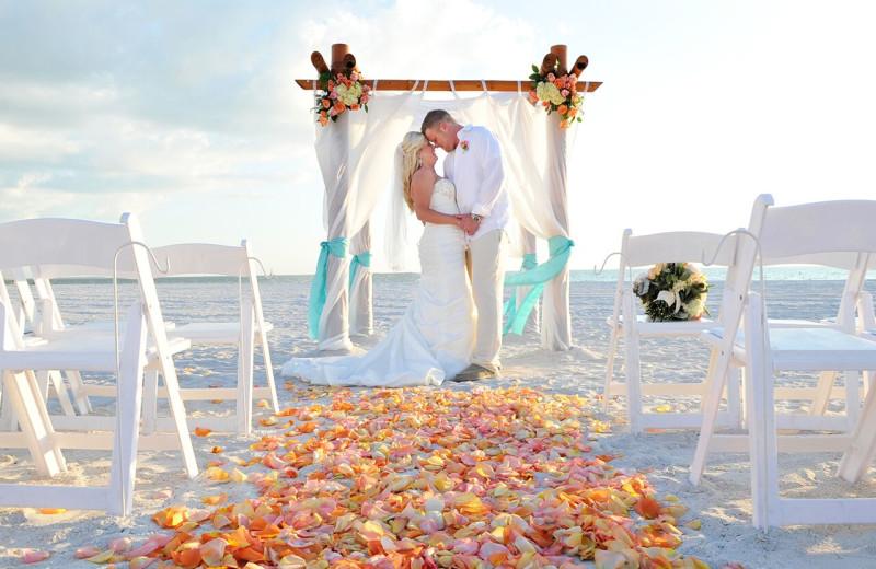 Beach wedding at TradeWinds Island Grand.