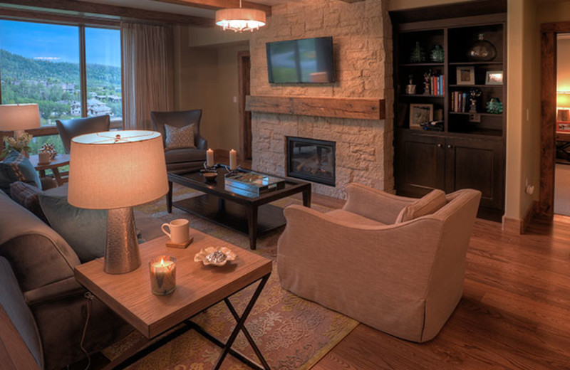 Rental living room at Edgemont Condominiums.