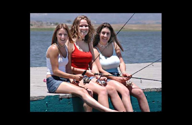 Fishing at Lake Henshaw Resort.