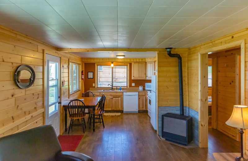 Cabin interior at Ten Mile Lake Resort -Otter Tail Country Lakes Tourism.