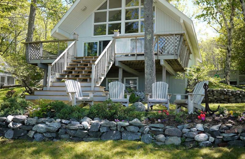 Rental exterior at Acadia Cottage Rentals.