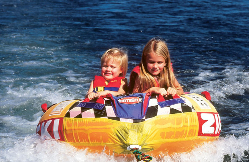 Water tubing at Red Apple Inn and Country Club.