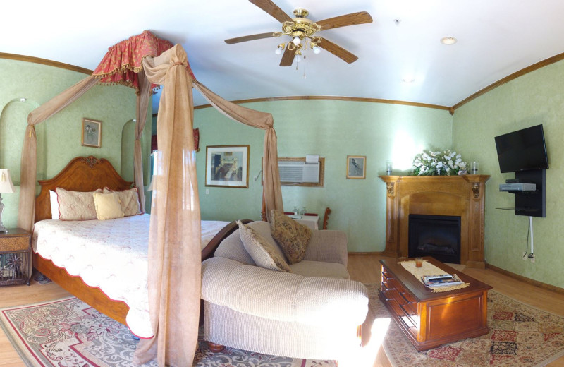 Guest room at Whispering Pines Inn.