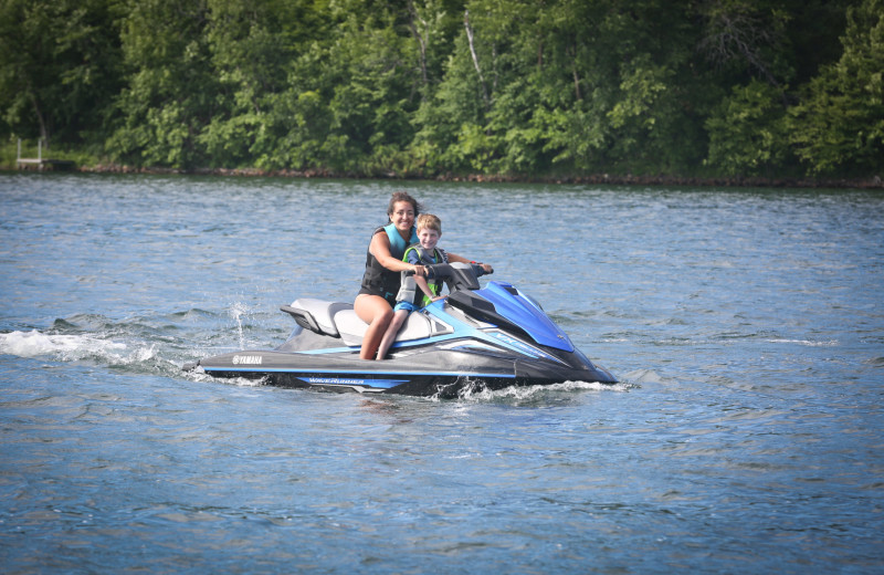 Jet ski at East Silent Lake Resort.