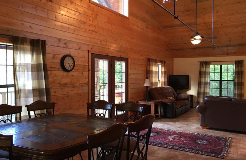 Cabin interior at Crooked River Cabins.