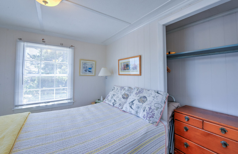 Rental bedroom at Beach Realty.
