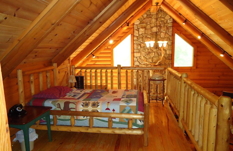 Cabin loft at Elk Ridge Ranch.