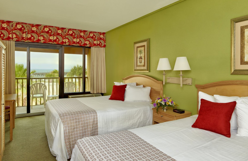 Double guest room at Springmaid Beach Resort.