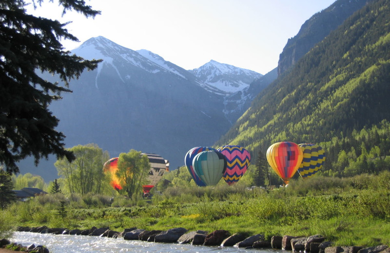 Balloons at Accommodations in Telluride.