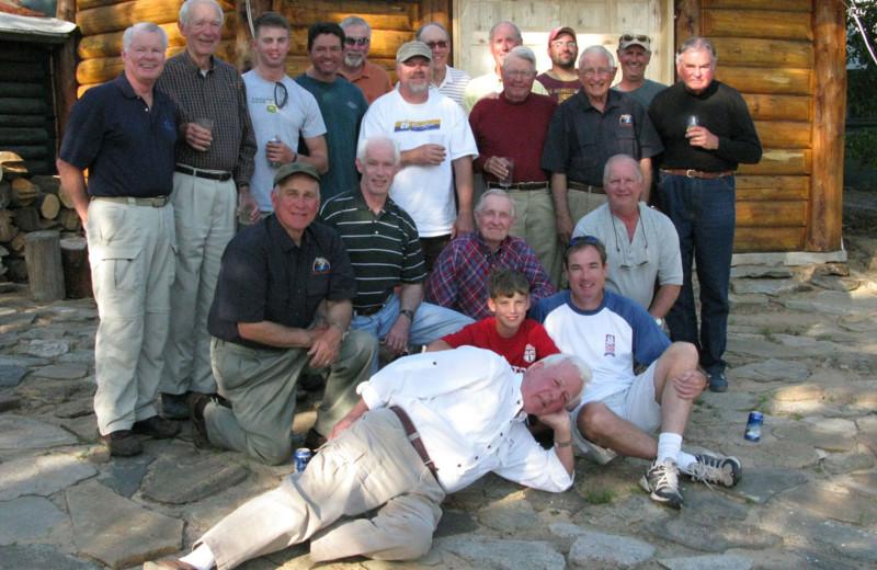 Group at Arctic Lodges.