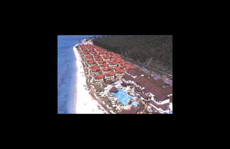 Aerial view of Le Morne Beach Resort & Casino.