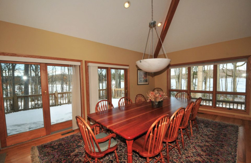 Rental dining room at Deep Creek Vacations.