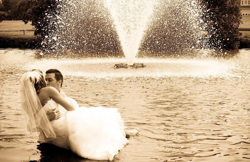 Wedding couple at Sea Palms Resort.