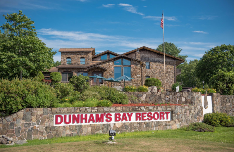 Exterior view of Dunham's Bay Resort.