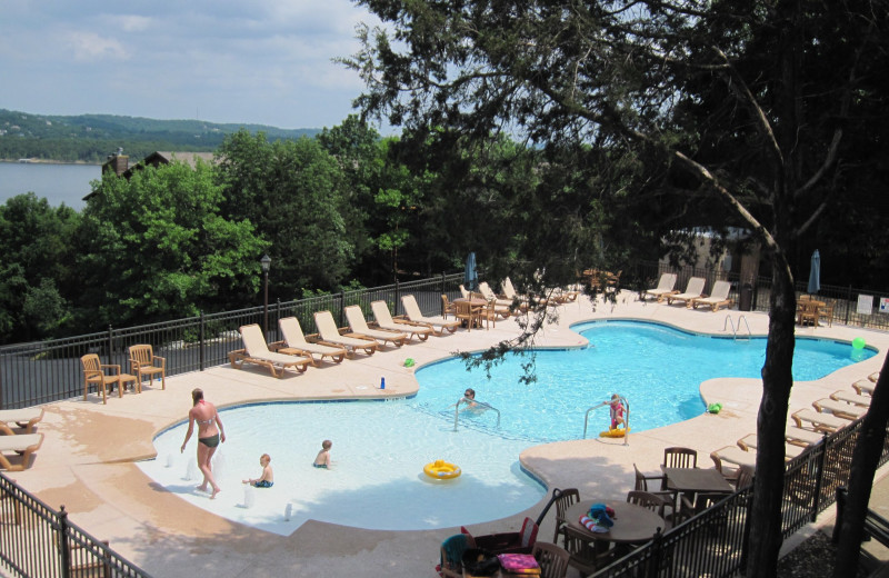 Outdoor pool at The Village At Indian Point.