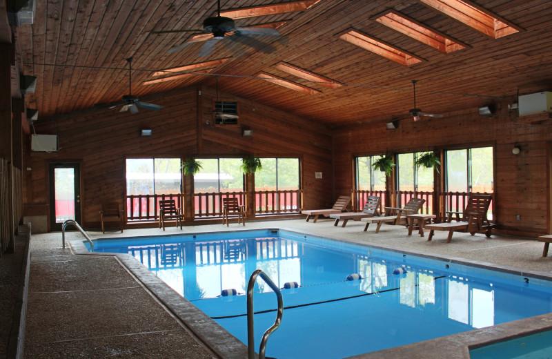 Indoor pool at Hawks Landing Resort.