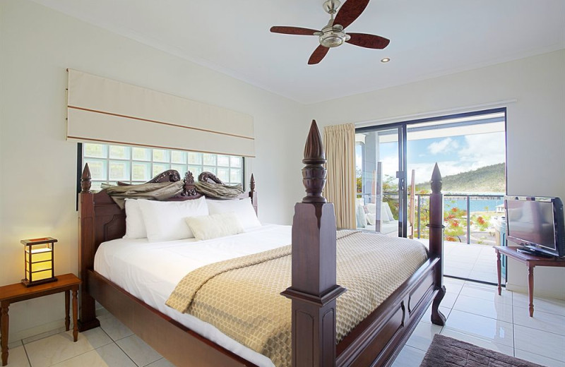 Guest room at Waterfront Whitsunday Retreat.
