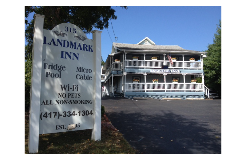 Exterior view of Landmark Inn.