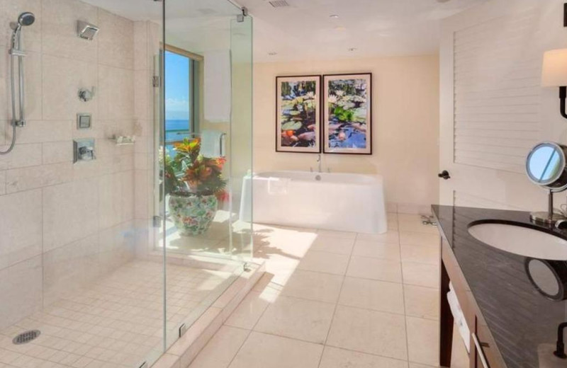 Guest bathroom at Honua Kai Resort & Spa.