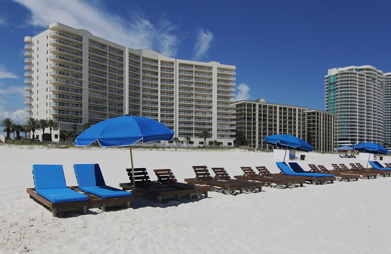 Rental beach at Alabama Coastal Properties.
