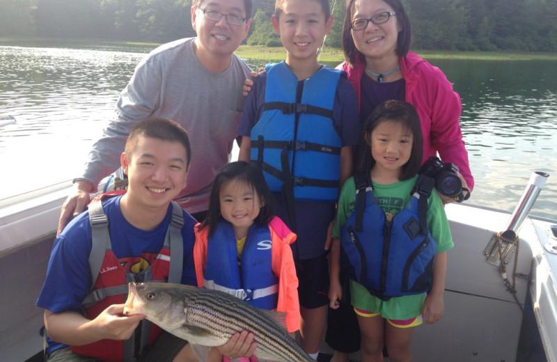 Family fishing at The Nonantum Resort.