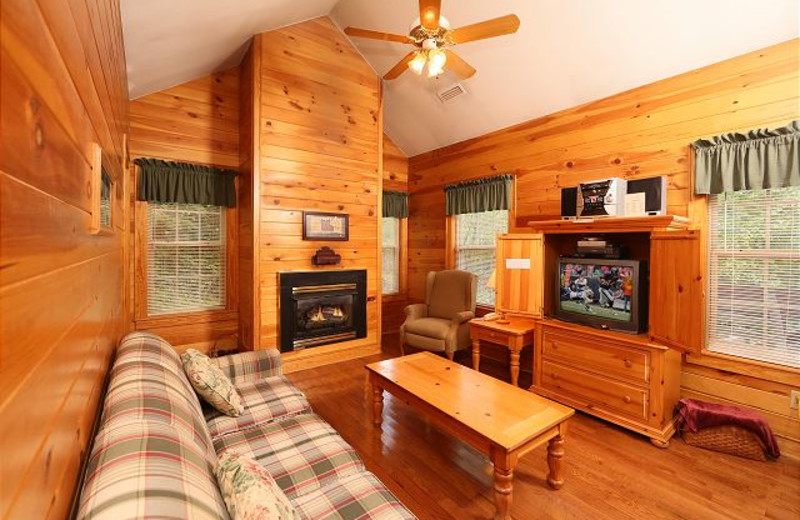 Rental living room at Smoky Mountain Resort Lodging and Conference Center.