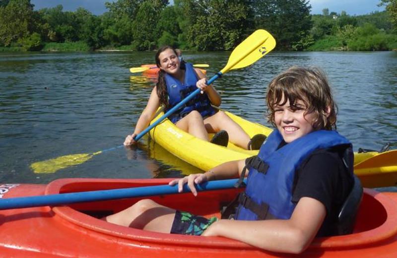 Kayaking at Shenandoah River Outfitters.