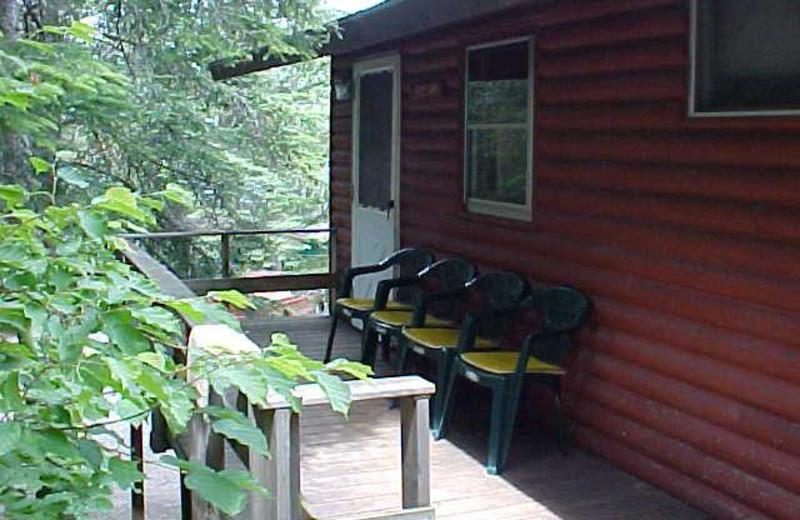 Cabin exterior at Tamarack Resort.