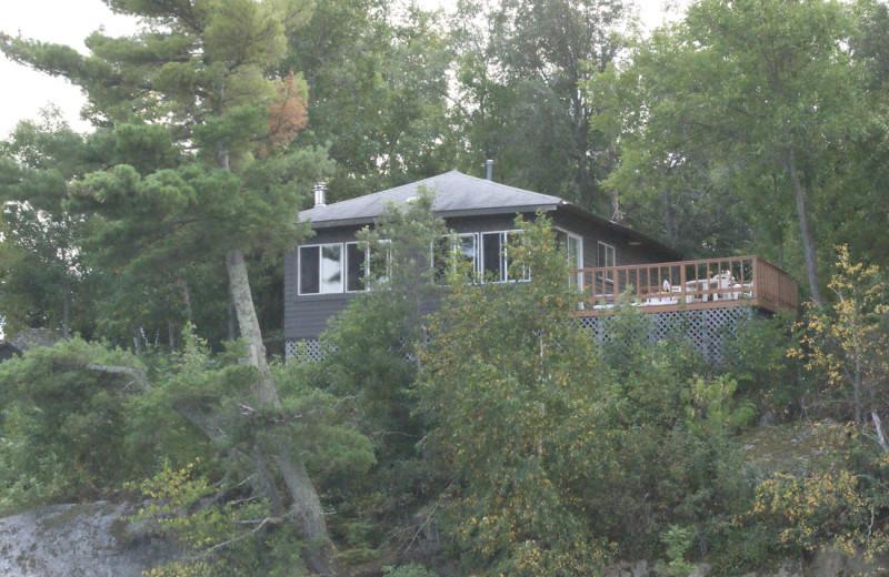 Cabin exterior at Park Point Resort.
